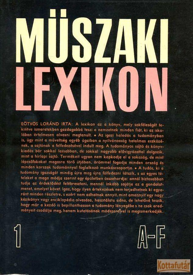 Műszaki lexikon I-VI.