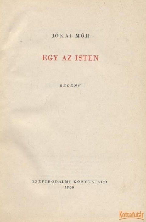 Egy az Isten (1960)
