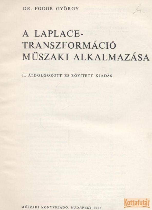 A Laplace-transzformáció műszaki alkalmazása