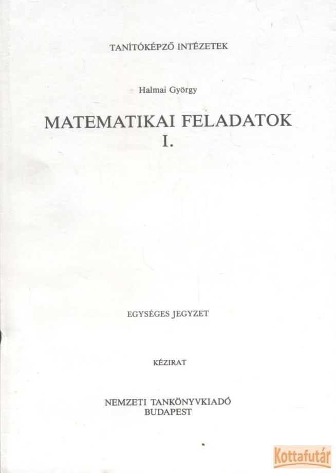 Matematikai feladatok I.