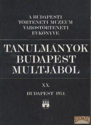 Tanulmányok Budapest múltjából XX.