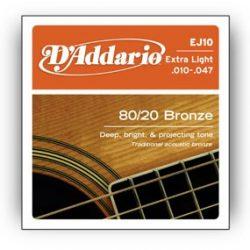 D'Addario EJ10 húrgarnitúra akusztikus gitárhoz