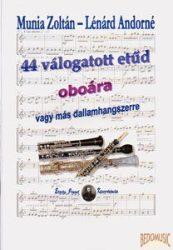 44 válogatott etűd oboára vagy más dallamhangszerre