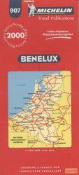 Benelux autótérkép