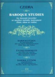 Barokk etűdök szopránfurulyára vagy más dallamhangszerre (fuvolára, oboára vagy hegedűre)