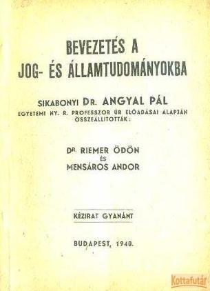 Bevezetés a jog- és államtudományokba