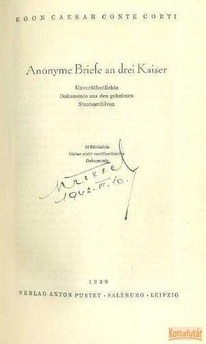 Anonyme Briefe an drei Kaiser