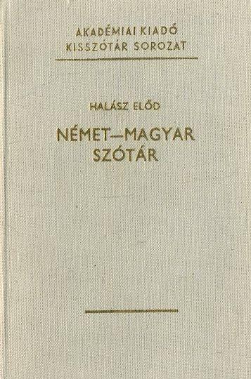 Német-Magyar szótár (1977)