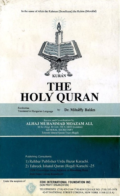 The Holy Quran (Magyar és arab nyelven)