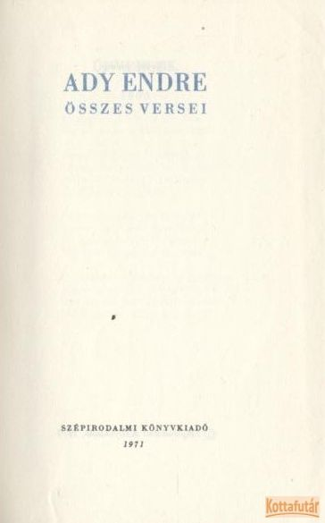 Ady Endre összes versei I-II. (1971)
