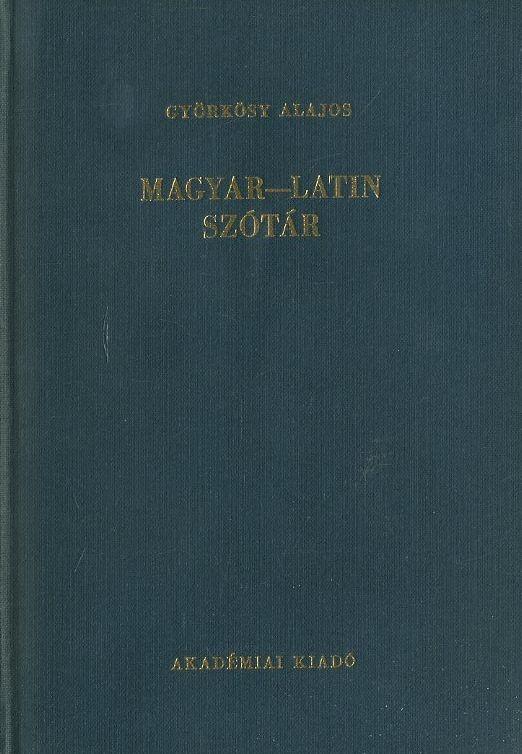 Magyar-Latin szótár (1989)