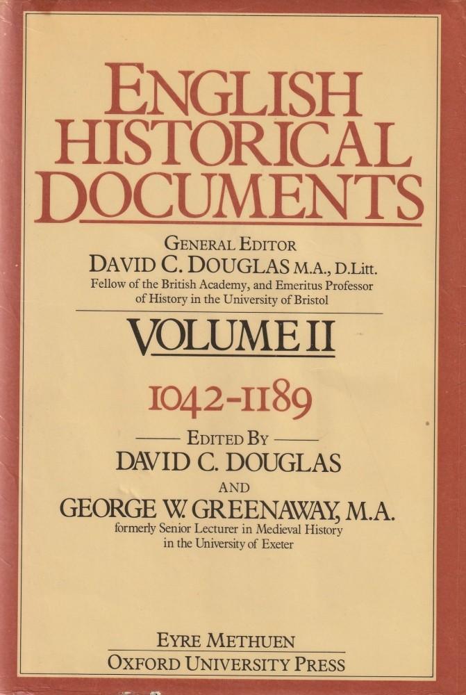 English Historical Documents Volume II.