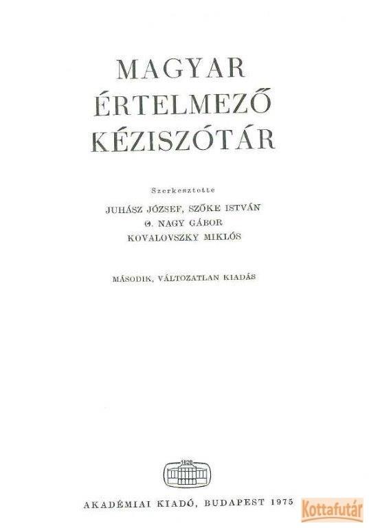 Magyar értelmező kéziszótár (1975)