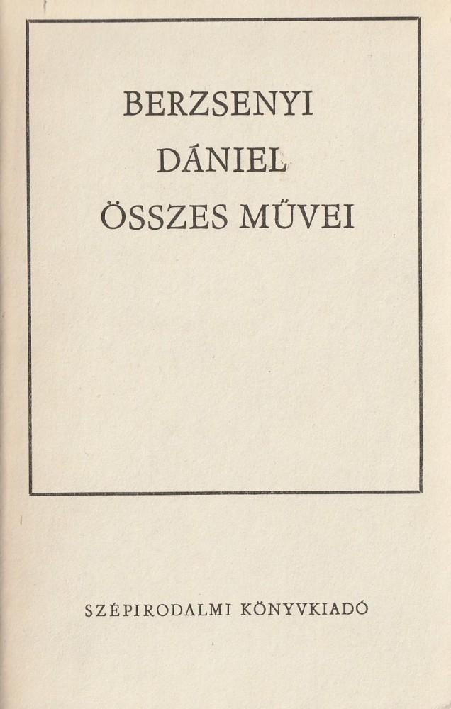 Berzsenyi Dániel összes művei (1968)
