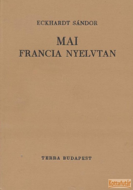 MAI FRANCIA NYELVTAN