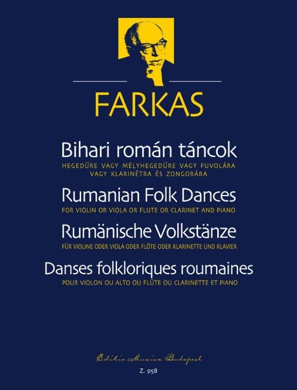 Bihari román táncok (hegedűre vagy mélyhegedűre vagy fuvolára vagy klarinétra és zongorára)
