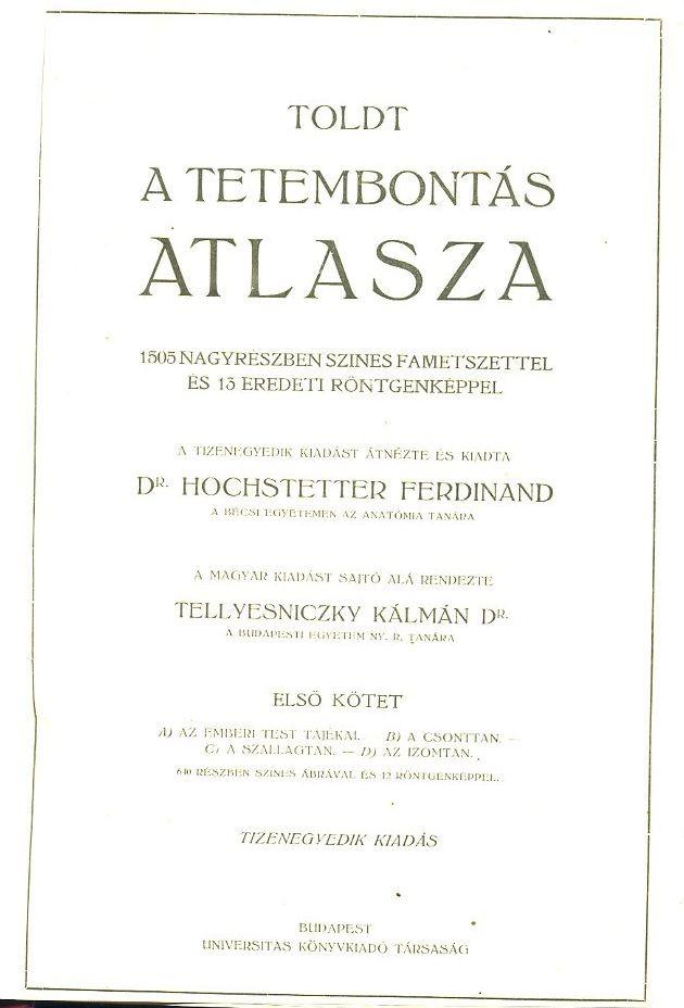 A tetembontás atlasza I-III.