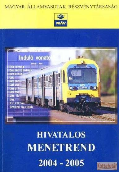 MÁV menetrend 2004-2005