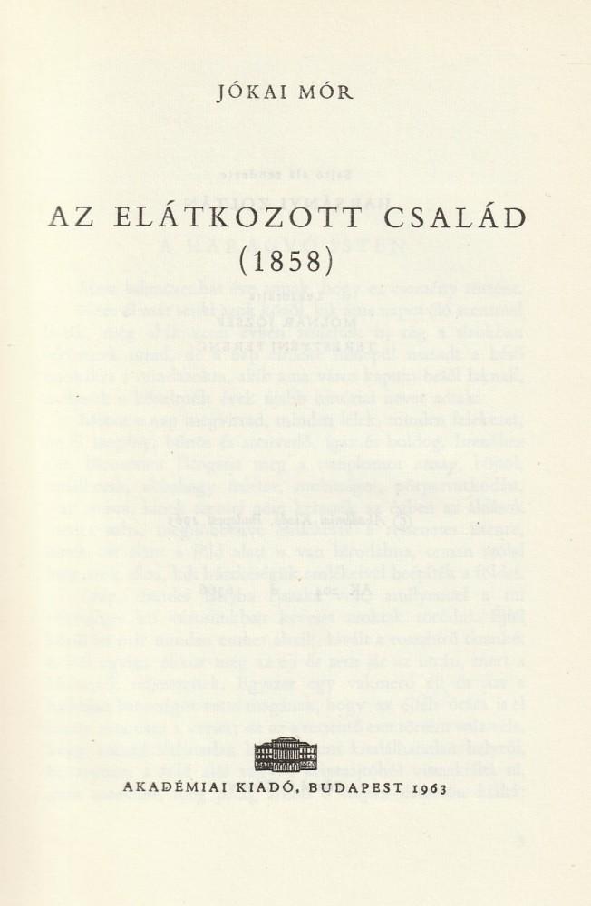 Az elátkozott család (1858)