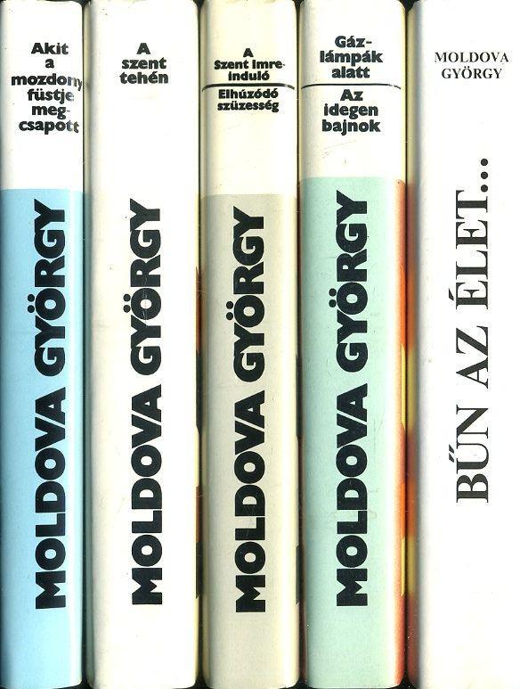 5 darab Moldova György könyv